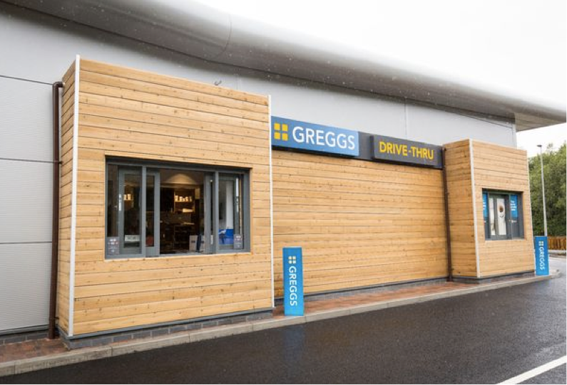 Drive-thru Greggs. Sausage rolls on the go